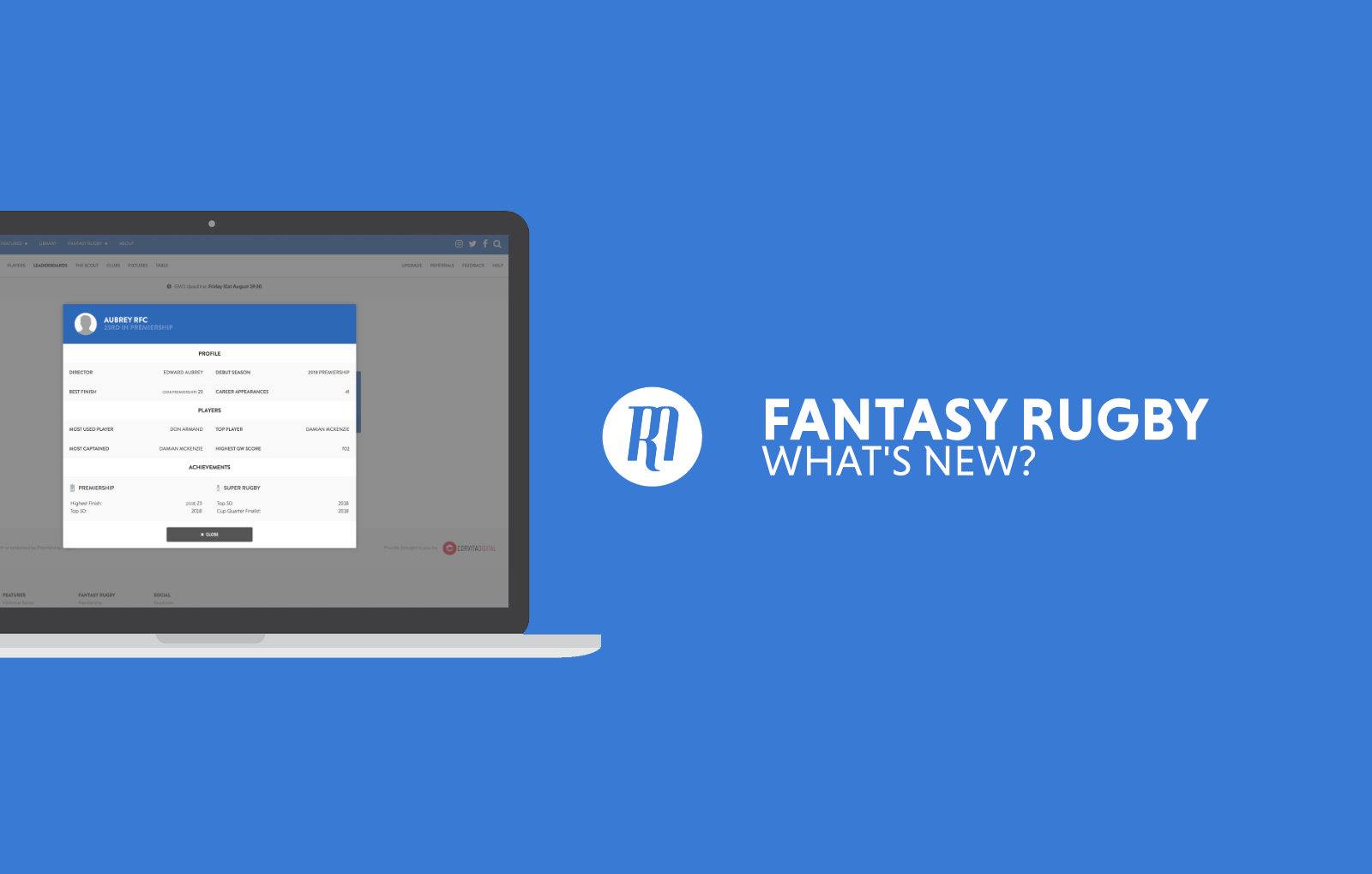 Fantasy Rugby: What's new?