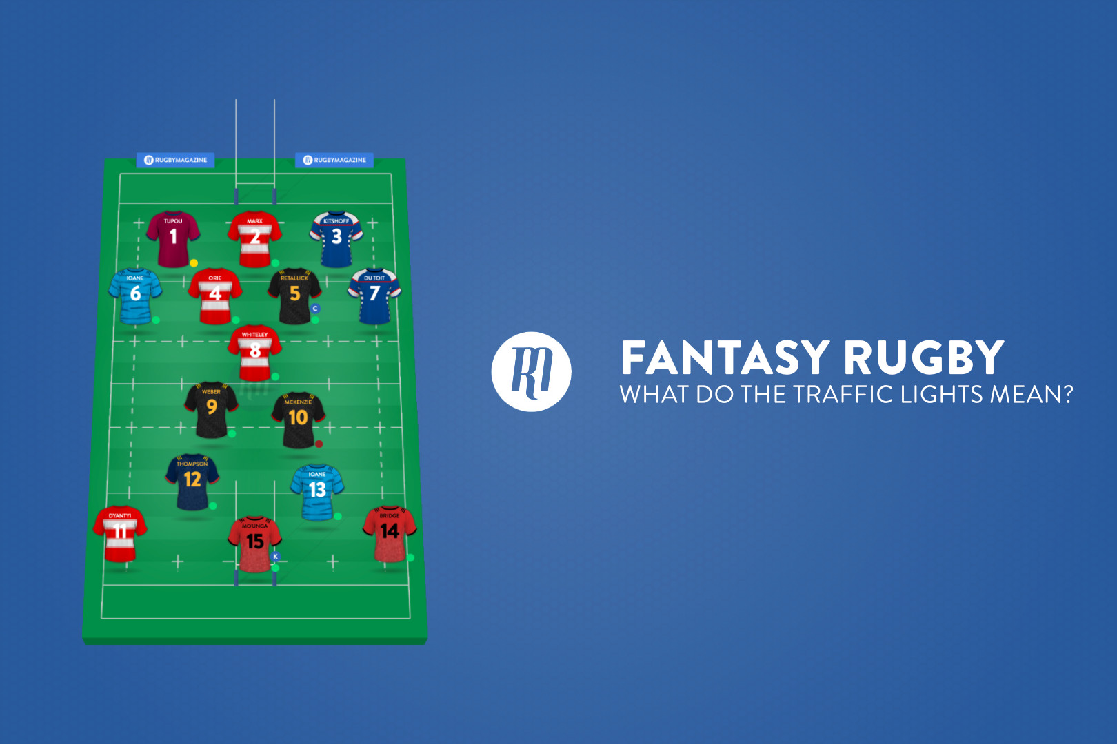 Fantasy Rugby: What do the traffic lights mean?